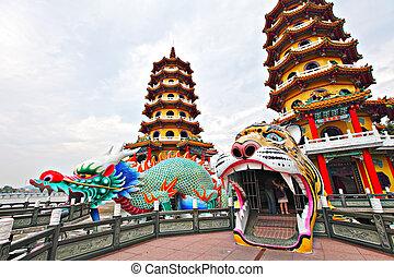 Dragon Tiger Tower in Taiwan
