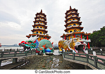 Dragon Tiger Tower in Taiwan