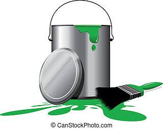 paint pot - green paint pot