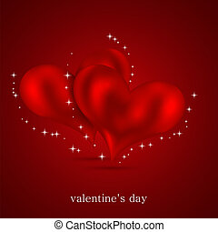 Valentines day background. Vector illustration. Best choice