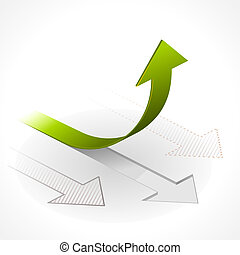 Onwards & Upwards Arrows - Vector illustration of Arrows in...