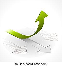 Onwards & Upwards Arrows - Vector illustration of Arrows in...