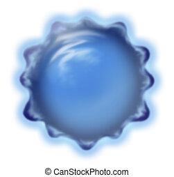 Illustration of a closeup of a virus
