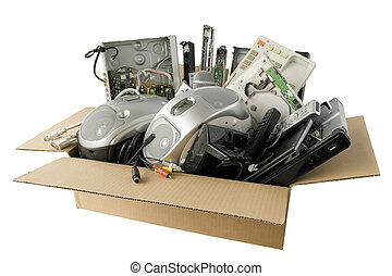 faulty audio and video electronics - In a cardboard industry...