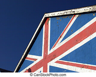Gable end with British flag