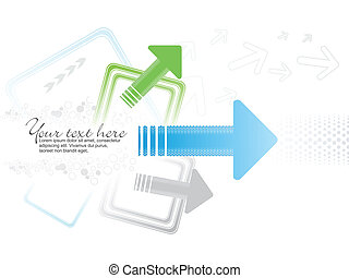 abstract arrow based concept vector illustration