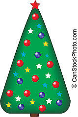 Decorated christmas tree