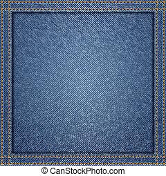 Blue jeans background, vector illustration