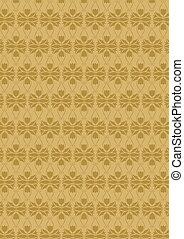 Flower wall-paper - Brown flower wall-paper without a seam