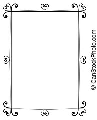 calligraphy ornamental decorative frame with heart - Vector...