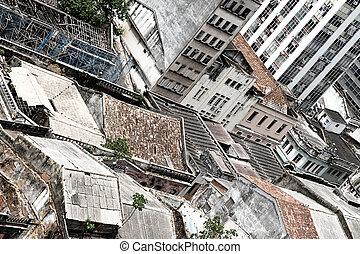 Rundown Buildings in Salvador - Rundown buildings in dowtown...