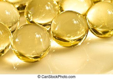 oil capsules - close up of vitamin oil capsules