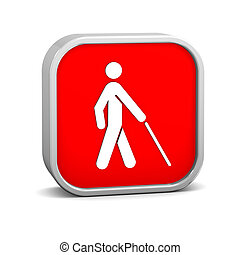 Low Vision Access Sign - Low vision access sign on a white...