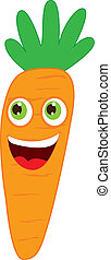 carrot cartoon over white background. vector illustration