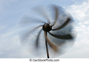 Pinwheel - A wind wheel is moving in the wind....