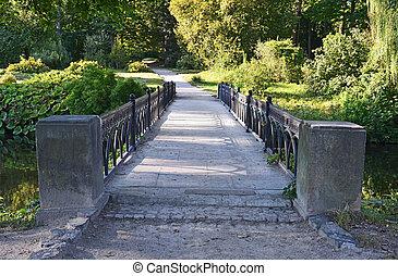 antigas, vindima, parque, ponte, Alexandria, Ucrânia