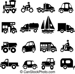 Transportation Icons - transportation icons