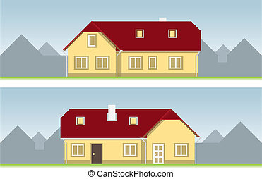 house several views illustration