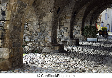 Stone arches in Aveyron, France - Chain of stone arches in...