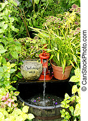 Garden Wishing Well - A beautiful garden wishing well.