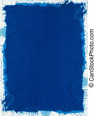 Blue Grunge Paper - A grungy blue background with a ragged...