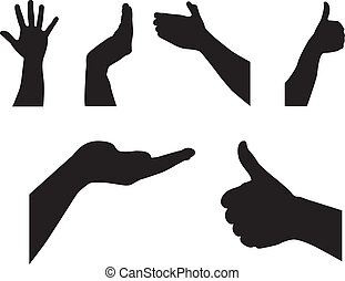 silhouette hands