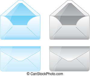 envelope cartoons - blue and gray envelope cartoons over...