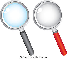 magnifying glass over white background vector illustration