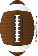 american football - brown american football over white...