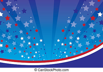 US background with lines and stars vector illustration