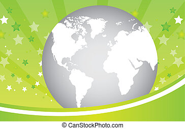 green background with planet