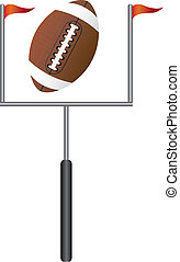 american football with goal post isolated vector...
