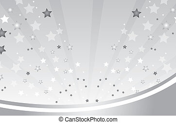 silver background with stars vector illustration