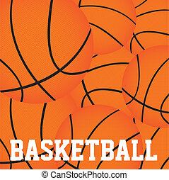 basketball balls background vector illutration. close up