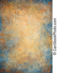 Golden Blue Background - A textured paper background with a...