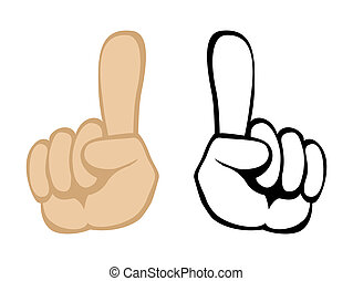 Pay attention handgesture Vector