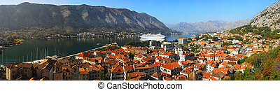 Kotor - Aerial view of Kotor city, Montenegro