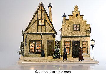 Chrismtas house - a beautiful handmade christmas home with a...