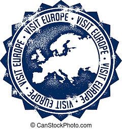 Visit Europe Stamp