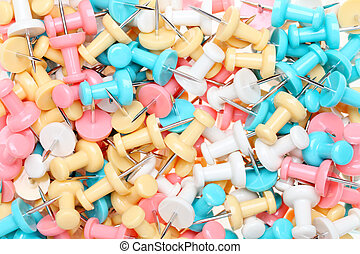 push pins - colorful push pins close-up