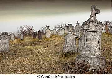 Old cemetery - Tombstones in a very old cemetery, Hungary....