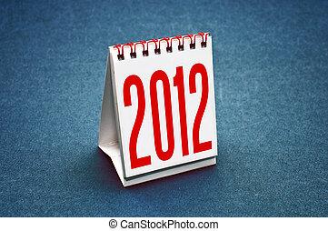 Calendar 2012 - Small table calendar for the year 2012.