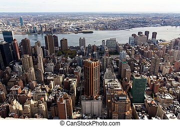 Manhattan View East Towards Brooklyn - A view of the...