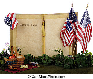 Once Upon an Independence Day - An oversized opened book...
