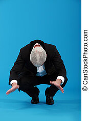 Businessman falling over