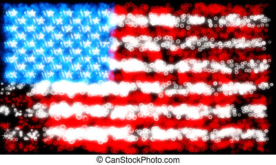 Holiday: glittering and sparkling USA flag