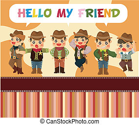 cartoon cowboy card