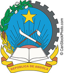 The national coat of arms of Angola