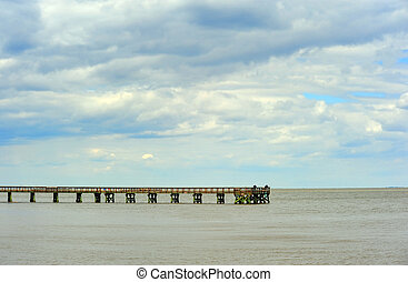 Chesapeake Bay Maryland Fishing pier