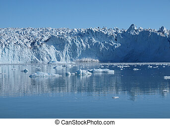 Calving glacier Eqi, Greenland. - Situated on Greenland west...